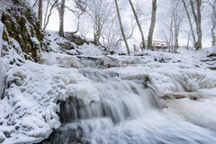 Waterfall in winter Royalty Free Stock Image