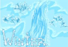 Waterfall winter Royalty Free Stock Photography