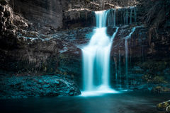 Waterfall in winter Stock Images