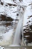 Waterfall in the winter. Season. Waterfall in ice and snow Stock Photo