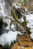 Waterfall  Krushuna in winter Stock Images