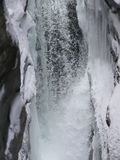 Waterfall in wintertime Stock Photography