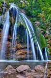 Waterfall in the wood Stock Image