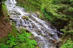 Waterfall in the woods stock photography