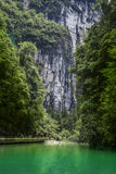 Waterfall at Wulong National Park famous landscape china Stock Images