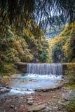 Waterfall at Wulong National Park famous landscape china Stock Photography