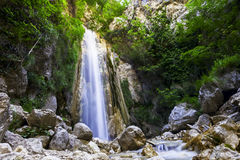 A waterfall in a WWF oasi. Shooting of a waterfall in a WWF oasi Royalty Free Stock Photo