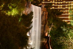Waterfall at Wynn hotel and casino in Las Vegas Royalty Free Stock Photography