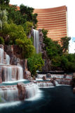 Waterfall and Wynn Hotel, Las Vegas Stock Image