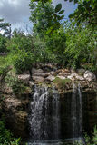 Waterfall in XCaret Yucatan Mexico Royalty Free Stock Photos