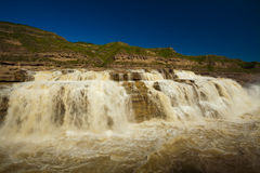 Waterfall yellow river hukou Stock Image