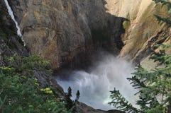 Waterfall in Yellowstone Royalty Free Stock Photo