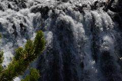 Waterfall in yellowstone Stock Image