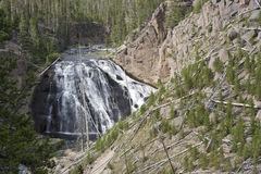 Waterfall in Yellowstone National Park Stock Photos