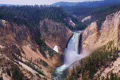 Waterfall in Yellowstone National Park Stock Photo