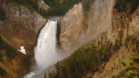 Waterfall Yellowstone National Park Wyoming United States stock video