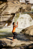 Waterfall Yoga Stock Image