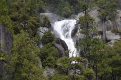 Waterfall at Yosemite National Park stock image