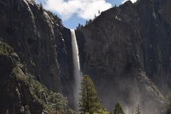 Waterfall at Yosemite National Park stock images