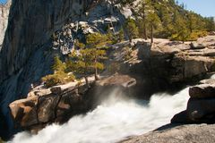 Waterfall in Yosemite National Park Royalty Free Stock Photo