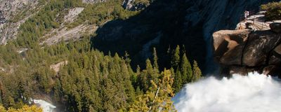 Waterfall in Yosemite National Park Stock Images
