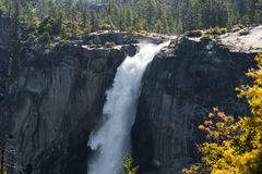 Waterfall in Yosemite National Park Stock Photo