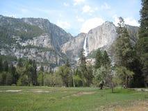 The waterfall in Yosemite Stock Image