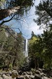 Waterfall in Yosemite. National park beautiful landscape stock photos