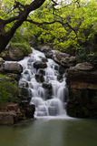 Waterfall of Yuantouzhu garden. In spring royalty free stock photography