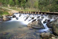 Waterfall of yuanyangxi ( mandarin duck creek ) Stock Photography