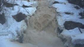 Waterfall Yukankoski, April morning. Karelia. Waterfall Yukankoski, April Sunny morning. Karelia stock video