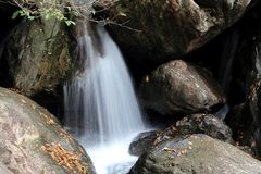 Waterfall in zengcheng forest park,guangdong, china Stock Photos