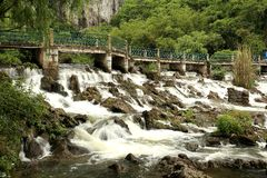 Waterfall in zengcheng forest park,guangdong, china Royalty Free Stock Photography