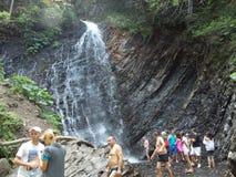 Waterfall Zhenetskyi Huk. Royalty Free Stock Photo