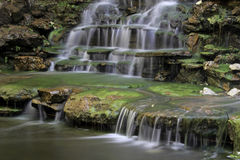 Waterfall at Zilker Botanical Garden Royalty Free Stock Photo