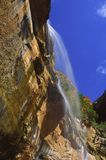 Waterfall in Zion National Park, Utah Stock Photography