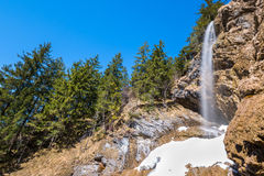 Waterfall Zipfelsbach in the Alps Stock Photos