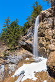 Waterfall Zipfelsbach in the Alps Stock Image