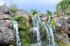 Waterfall in zoo Royalty Free Stock Photo