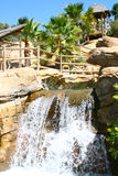Waterfall in Zoo, Tabernas, Almeria Royalty Free Stock Photography