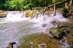 Waterfalll at Num Tok Chet Sao Noi National Park Stock Images