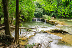 Waterfalll at Num Tok Chet Sao Noi National Park Royalty Free Stock Images