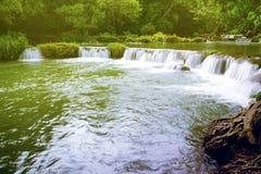 Waterfalll at Num Tok Chet Sao Noi National Park, Thailand:dream Royalty Free Stock Photography
