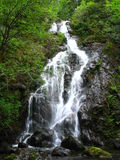 Waterfalls. Gorgeous waterfalls in the hear of backcountry Vancouver Island Stock Image
