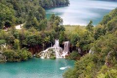Waterfalls. The lake of Plitvice ,the Croatia Stock Image