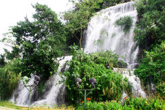 Waterfalls. Liuzhou, Guangxi, China Broom Hill Falls Stock Photo