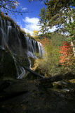 Waterfalls. At autumn in Jiuzhaigou Royalty Free Stock Images
