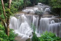 Waterfalls. Huay Mae Khamin Forth Level, Paradise Waterfall located in deep forest Stock Images