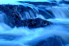 Waterfalls 2. Blue waterfalls Stock Photography