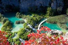 Waterfalls. The lake of Plitvice ,the Croatia Royalty Free Stock Photo